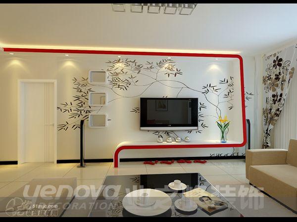 影视墙 业之峰装饰作品 家居设计图库 效果图,实景图,样板间,建